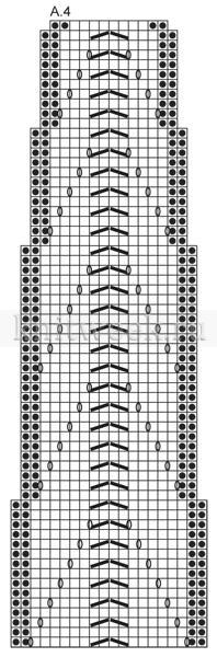Длинный жакет спицами с отложным воротником - Схема 2