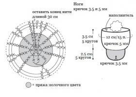 Белый козлик крючком - Схема 3