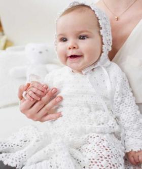 Крестильное платье и чепчик для малыша