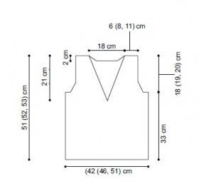 Простой топ с V-образным вырезом - Выкройка 1