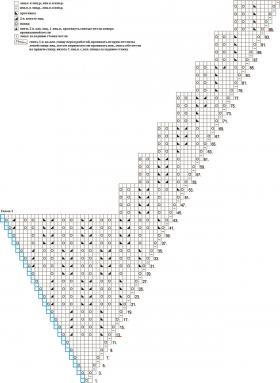 Бактус с ажурно-рельефным узором - Схема 1