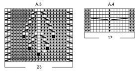 Подушка снежные бусинки - Схема 3