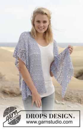 Кружевной летний шарф крючком
