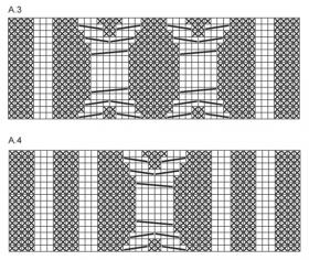 Свитер реглан с большими аранами - Схема 2