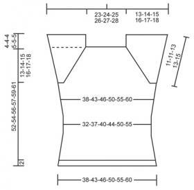 Топ реглан спицами с ажурными элементами - Выкройка 1