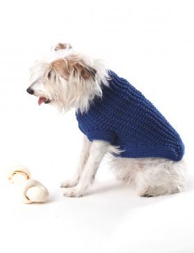 Синее рельефное пальто