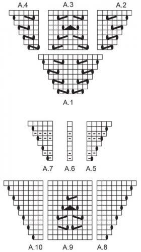 Шаль Аретуса - Схема 2