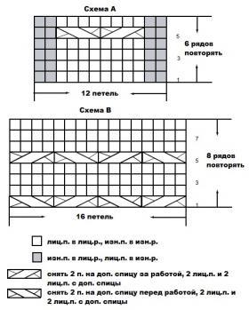 Чехол с рельефным узором на квадратный пуфик - Схема 1