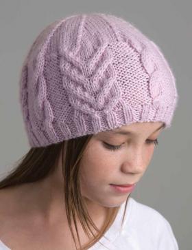 Облегающая шапка с узором из жгутов
