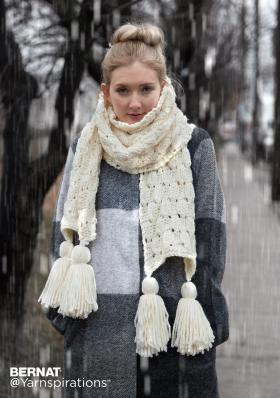 Супер шарф с объемными ромбами - Фото 4