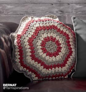 Восьмиугольная подушка крючком