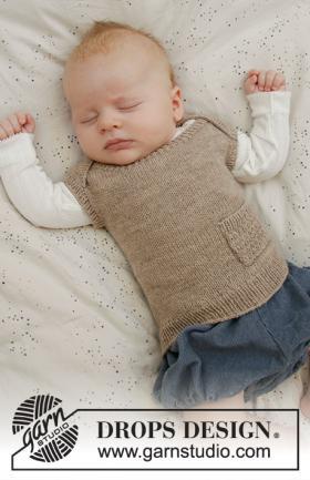Безрукавка для малыша с карманом