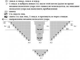 Шаль нежная мальва - Схема 1