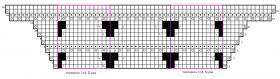 Шаль с ажурным краем - Схема 1
