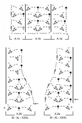 Джемпер голубой фонтан - Схема 2
