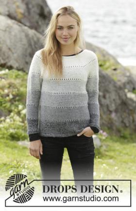 Пуловер серые тени