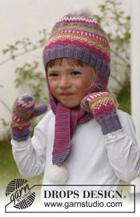Цветные шапка и варежки