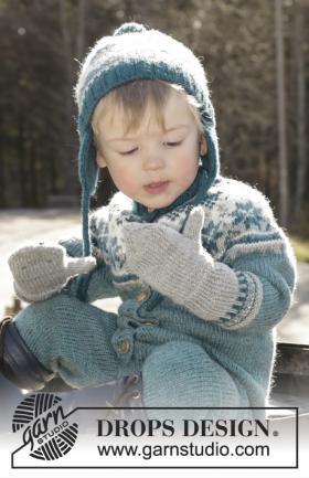 Варежки дикая черника - Фото 1