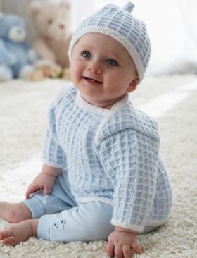 Кофта и шапка спицами для малыша