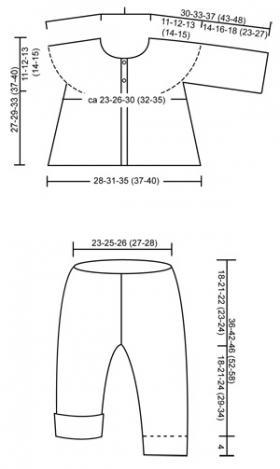Костюм для малыша платочным узором - Выкройка 1