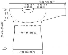 Пуловер серые тени - Выкройка 1