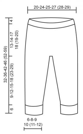 Штаны маленькая Дарси - Выкройка 1