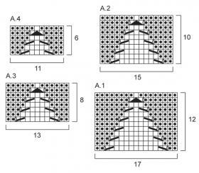 Женский жакет реглан спицами - Схема 2