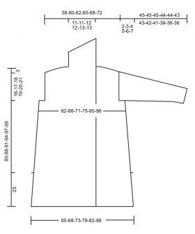 Кардиган лесная дымка - Выкройка 1