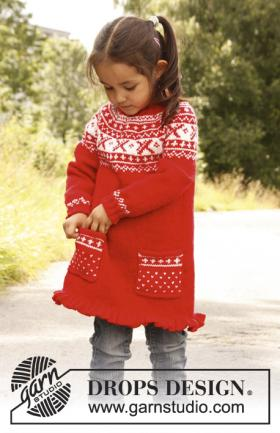 Платье для девочки спицами с круглой кокеткой
