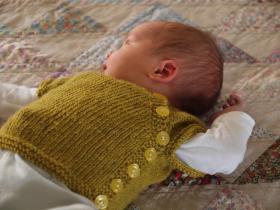 Кардиган для новорожденного