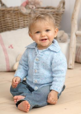 Жакет на пуговицах с отложным воротником для ребенка
