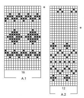 Юбка бубновая масть - Схема 1