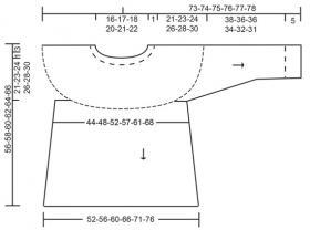 Свитер Пирамиды - Выкройка 1