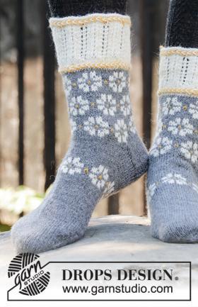Носки Зимние маргаритки - Фото 1
