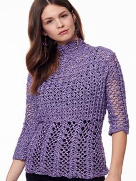 Пуловер с викторианским узором