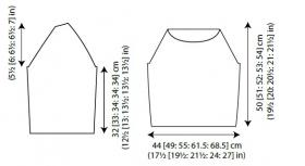 Пуловер Ньюпорт - Выкройка 1