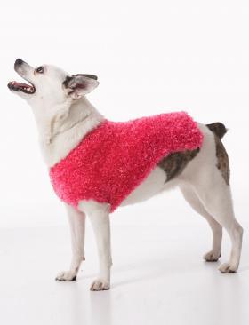 Розовое мохнатое пальто - Фото 1