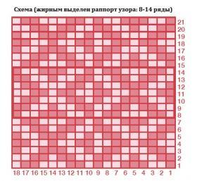 Свитер Мозаика - Схема 1