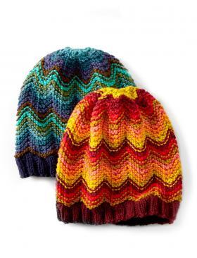 Яркая шапка с шевронами - Фото 1