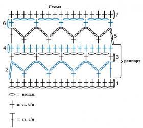 Ультра короткое болеро крючком - Схема 1