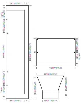 Стильный кардиган накидка теневым узором - Выкройка 1