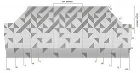 Элегантный пуловер с геометрическим орнаментом - Схема 1