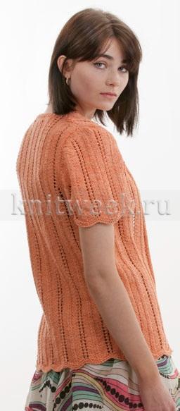 Жакет с коротким рукавом и шевронами - Фото 1