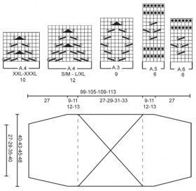 Ультра короткое болеро спицами с ажурным узором - Схема 4