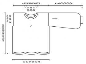 Пуловер Сеговия - Выкройка 1