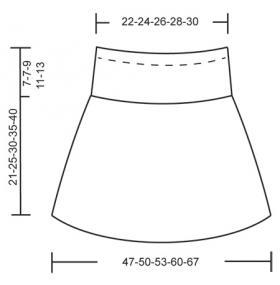 Короткая юбка спицами для девочки - Выкройка 1