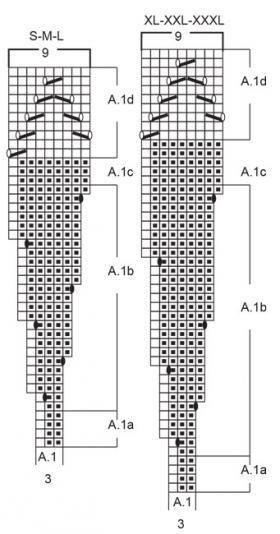Свитер Белая лилия - Схема 2