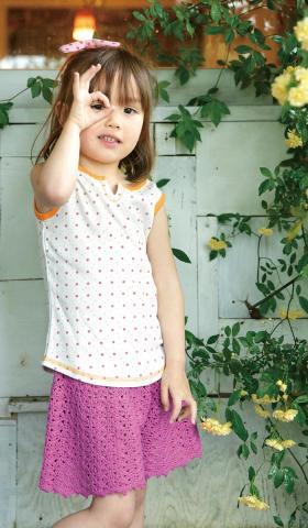 Юбка-шорты крючком для девочки