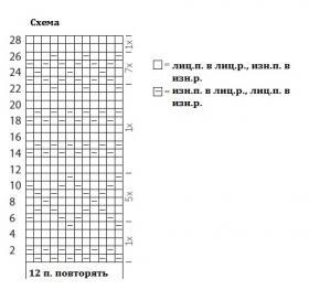 Палантин теневыми узорами - Схема 1