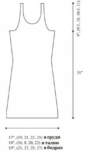Летнее платье на бретелях в полоску - Выкройка 1